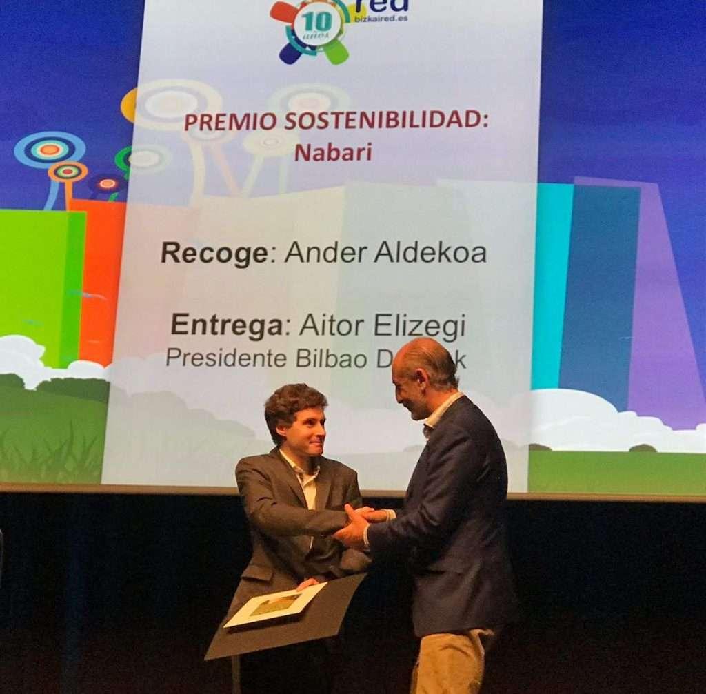 Ander Aldekoa, en premios Bizkaired