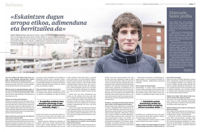Ander Aldekoa - entrevista a 2 páginas en Hiruka
