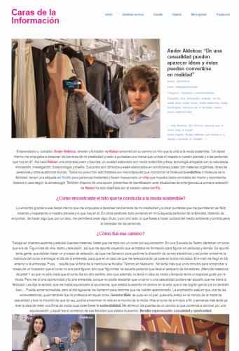 Entrevista de Caras de la Información a Ander Aldekoa