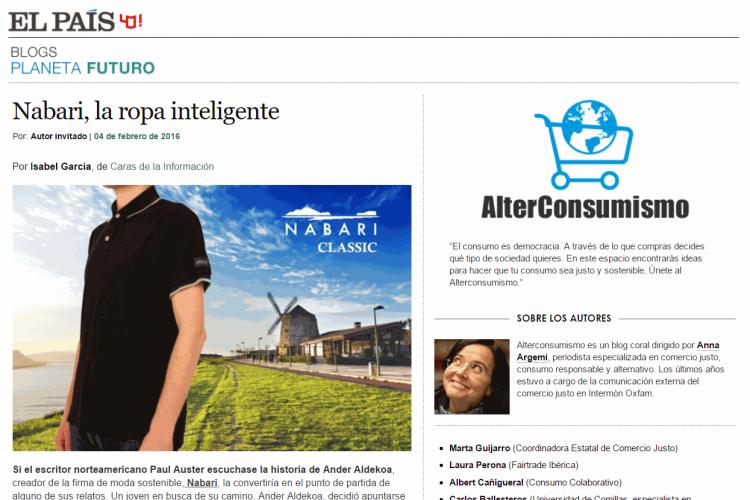 Entrevista de El País a Ander Aldekoa